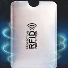 Wallet Card-Holder Lock-Bank Id-Bank-Card-Case-Protection Blocking-Reader Metal Credit