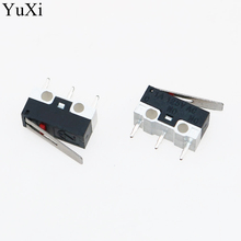 YuXi Limit Microswitch With Three Straight Legs Mouse Side Key Momentary Micro Limit Switch 1A/125V AC For Makerbot MK7/ MK8 other 3d 2 makerbot mk7 mk8 jiare001