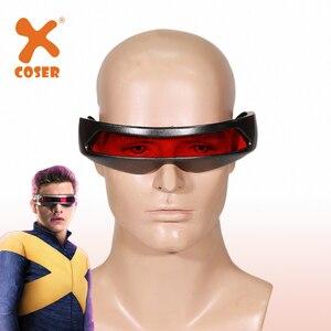 Xcoser lentes de cíclopes Cosplay antifaz de Halloween Cosplay X hombres: Dark Phoenix accesorios de disfraces accesorios para Cosplay tamaño adulto