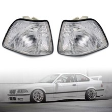 Areyourshop luzes laterais seta canto, sinais para bmw 3 séries e36 4d sedan hatchback 1992 1998 luzes de canto carro acessórios