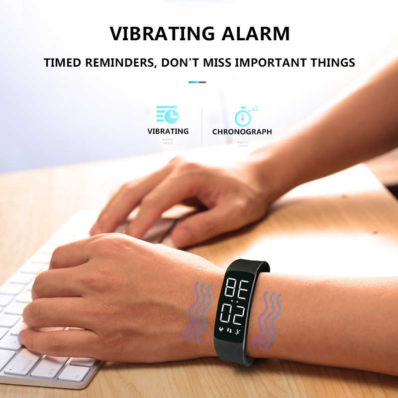 DFOTIM Original Fashion Camouflage Digital Watch Waterproof Women Electric Sports Fitness Watches Smart Charging Bracelet Clock