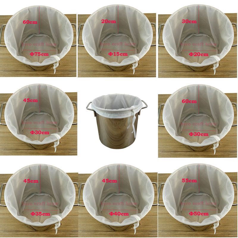 Beer Home Brew Brewing Filter Bag Brew Bag With Multi Size For All Grain Home Beer Brewer