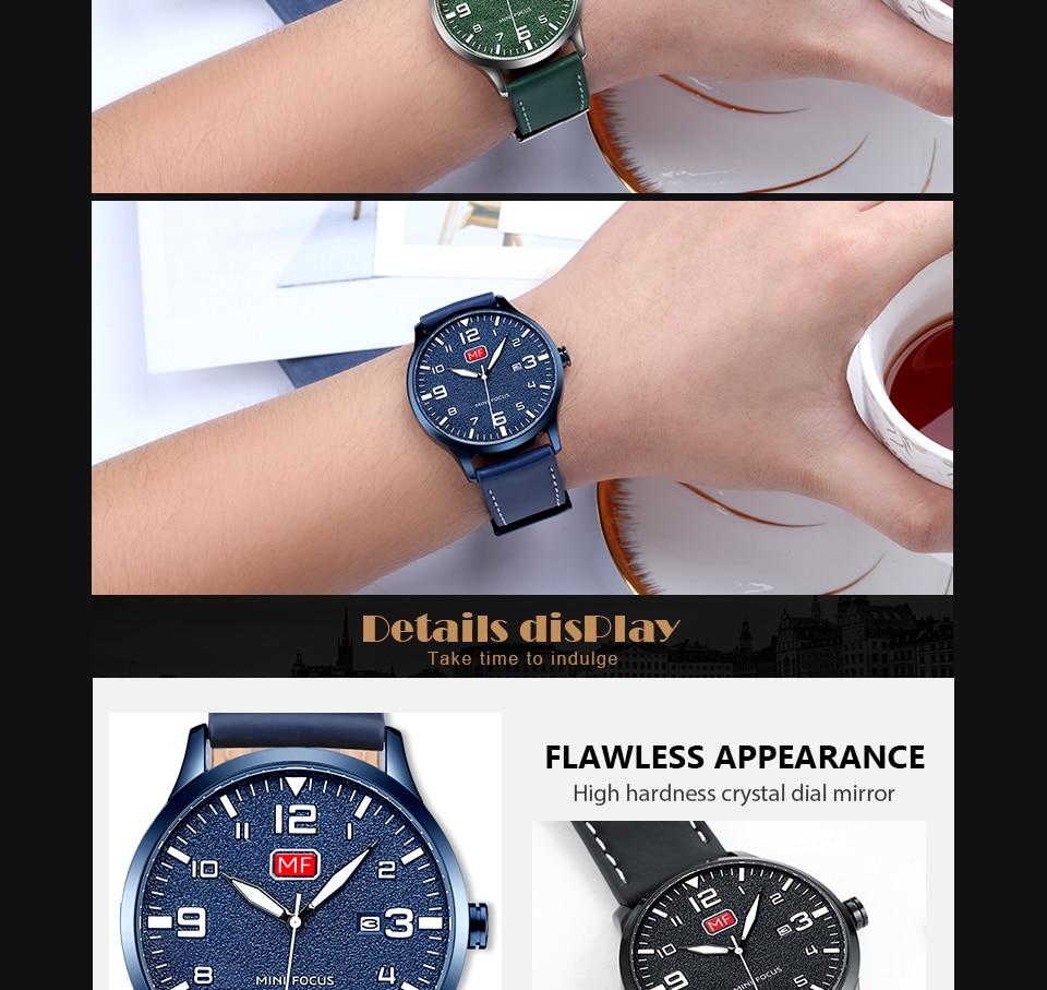 Hcd35ee2d223b43fda41958d6b619128aF MINI FOCUS Luxury Brand Men's Wristwatch Quartz Wrist Watch Men Waterproof Brown Leather Strap Fashion Watches Relogio Masculino