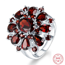 Solid Sliver 925 Jewelry Ring for Women Luxury Anillos De Garnet Ruby Rubellite Gemstone Topaz Diamond S925 Wedding