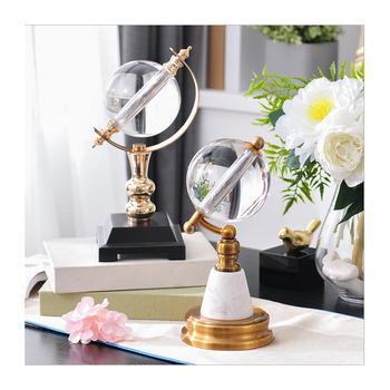 European modern crystal globe decoration business office study living room creative decoration light luxury gift home accessorie