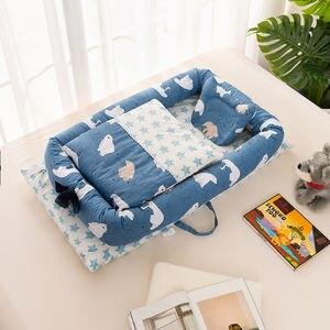 Image 3 - 2 個/3 個ベビー巣ベッドベビーベッドポータブルリムーバブルと洗えるベビーベッド旅行ベッド子供のマットレス