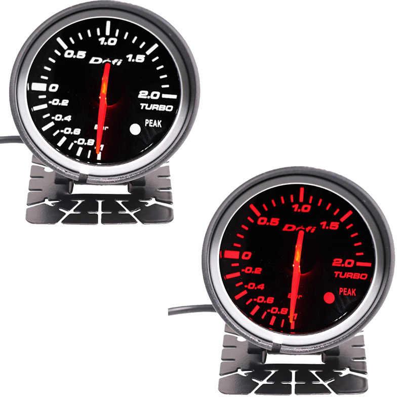 Df سيارة توربو مقياس سرعة الدوران مقياس ضغط الزيت مع أحمر أبيض Led الخلفية 12 فولت مقياس مقدما