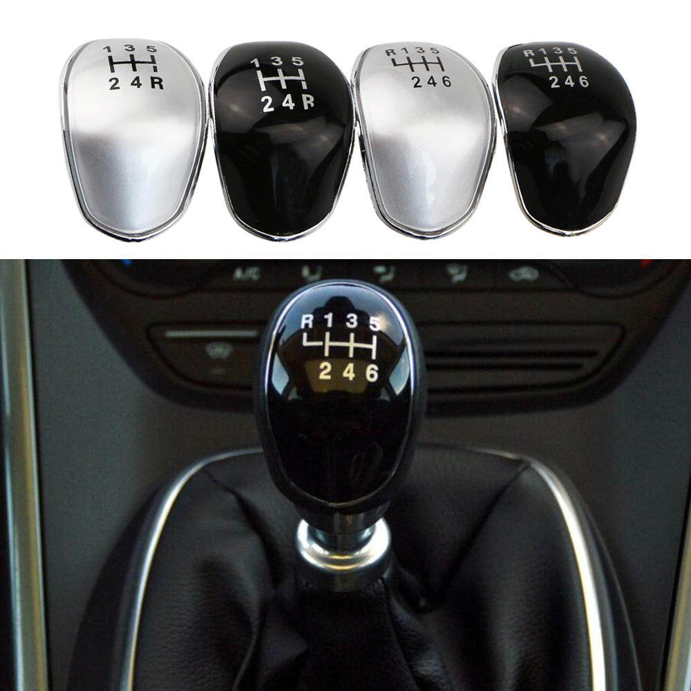 DAEFAR 5/6 Speed Manual Gear Shift Knob Cap Cover Emblem for Ford Focus 2 2005 - 2011 C-Max Kuga Fiesta Car Styling Accessories