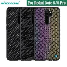 Pokrowiec na Xiaomi Redmi Note 8 Pro pokrowiec NILLKIN Twinkle pokrowiec z siatki poliestrowej odblaskowa tylna pokrywa dla Redmi Note8 wersja globalna