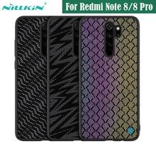 מקרה עבור Xiaomi Redmi הערה Note 8 Pro פרו כיסוי NILLKIN נצנץ מקרה פוליאסטר רשת רעיוני מגן חזרה כיסוי עבור Redmi Note8 פרו
