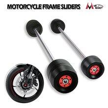 For Suzuki GSXR600 GSXR750 GSXR1000 GSXR 600 750 1000 GSX-S1000 Motorcycle Front & Rear Wheel Fork Axle Sliders Cap Crash Prote