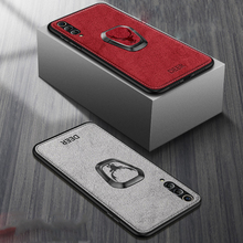 Voor Samsung Galaxy S20 Ultra Fe Note 20 10 5G S10 Plus S9 S8 A30 A50 A70 A80 A90 a51 A71 Magneet Houder Case Stof Beugel Cover