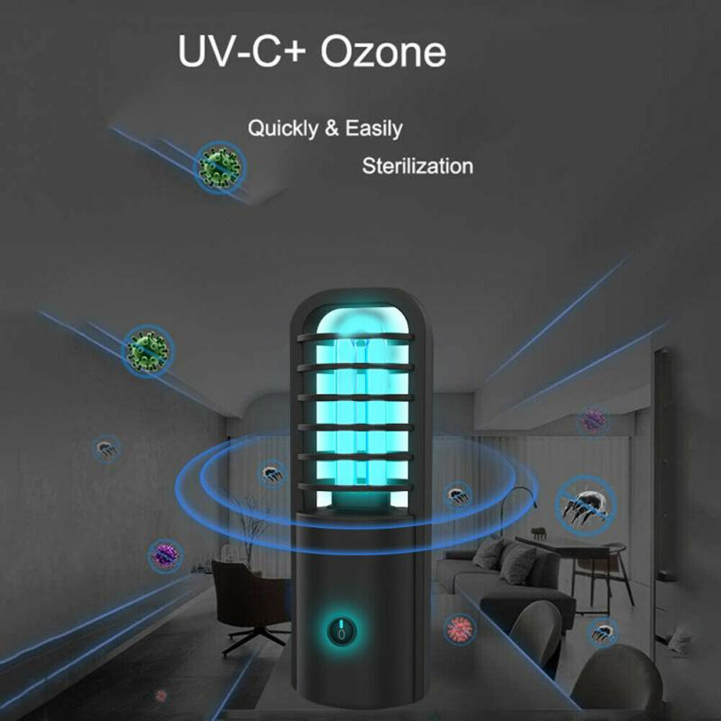 Hot Portable UV LED Handheld Bulb Disinfection Lamp UVC Sterilizer USB Charging Personal Cleaning Care Lasting Sterilization
