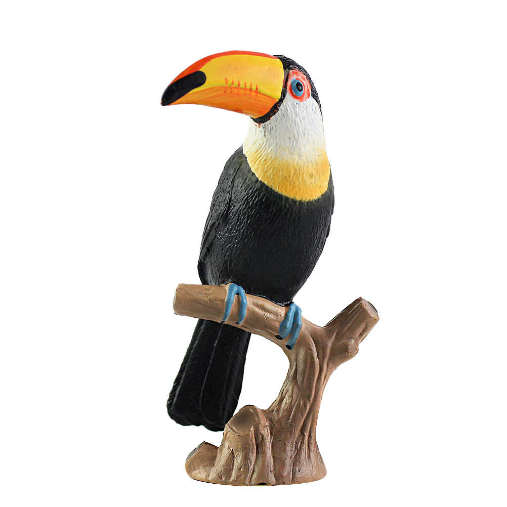 Toucan Figurine Simulation Model Toy Ornaments Craft Gift Collection Desktop Office Home Decoration