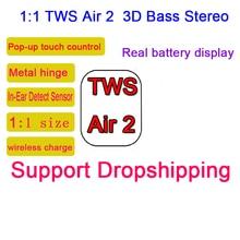 I500 наушники-вкладыши TWS True Беспроводной наушники Bluetooth 5,0 Поддержка Qi Беспроводной заряда всплывающее окно с iOS Автоматическое Сопряжение ми...