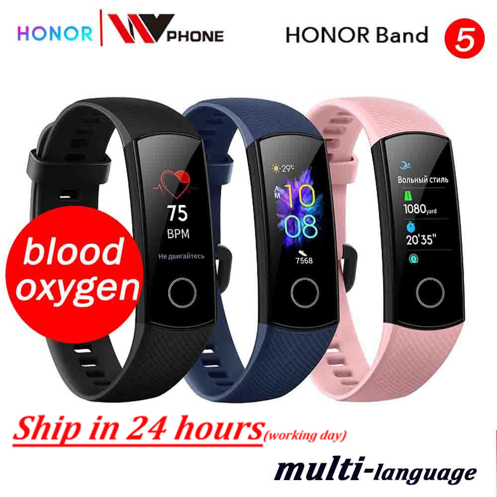Honor Smart-Watch Swimming-Sport-Tracker Blood-Oxygen Fitness Sleep Huawe Band-5 AMOLED title=