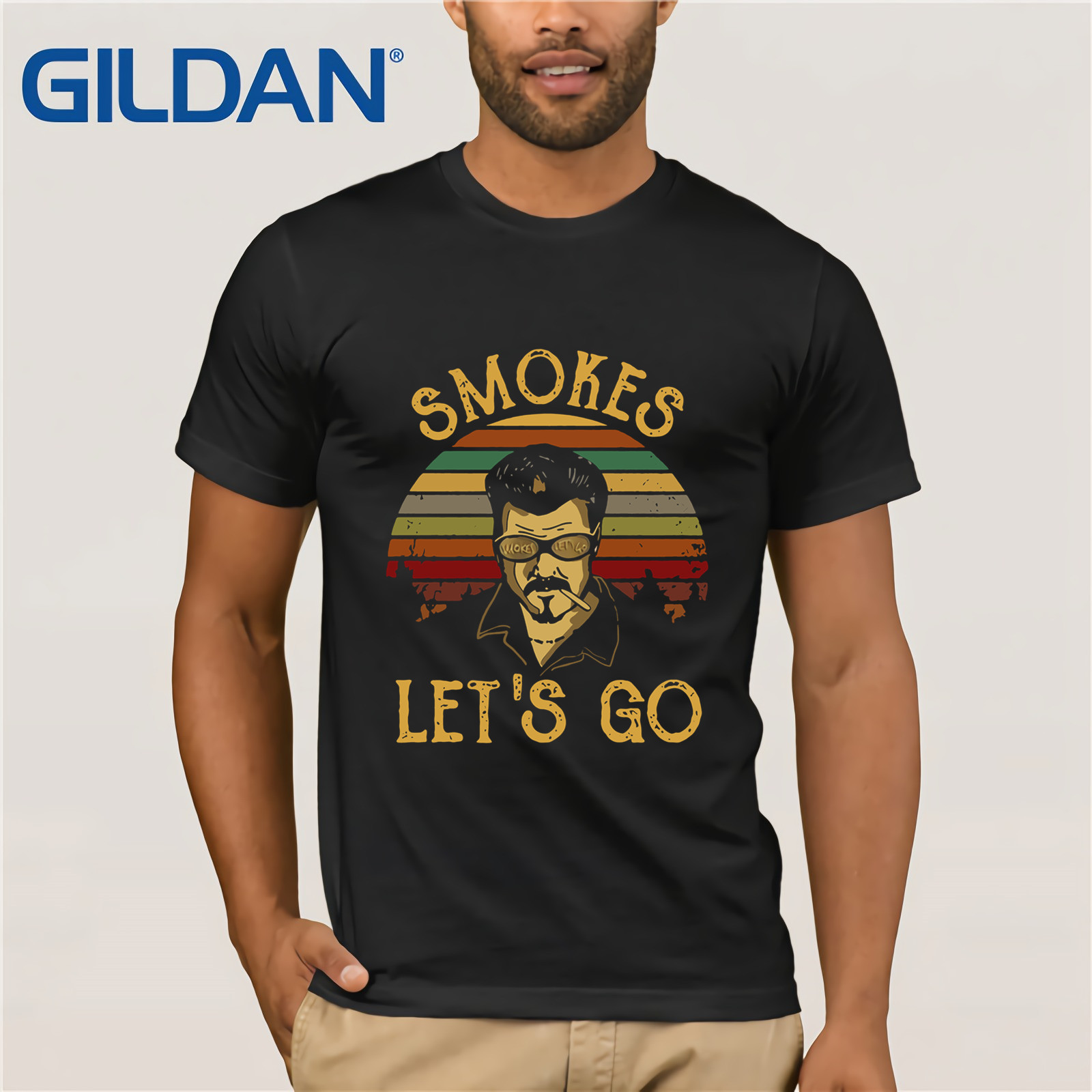 Trailer Park Boys Smokes Let's Go Vintage Shirt Summer Men's Short Sleeve T-Shirt For Men Tops  Funny Tees Cotton Tops T Shirt