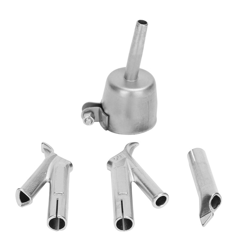 4 Speed Welding Nozzles For Vinyl Pvc Plastic Hot Air Blower Triangle Speed Nozzle 5Mm Round Welding Head Alloy Y Type