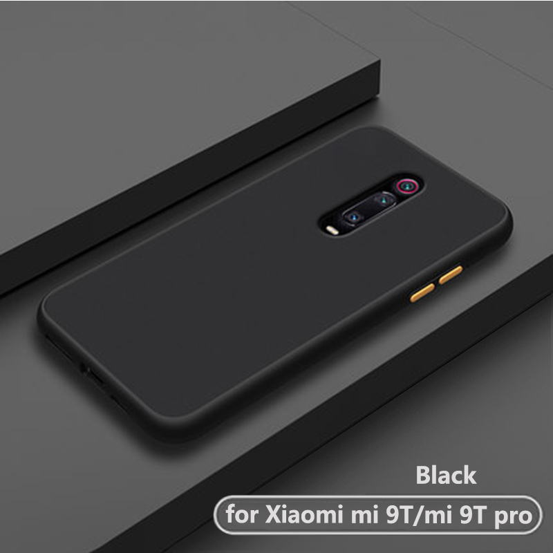 luxury shockproof frosted transparent phone back etui.coque.cover.case for xiaomi mi 9t pro mi9t mi9 t 9tpro for xiomi silicone image