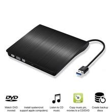 Lecteur optique externe portable, USB 3.0 DVD-ROM mince, lecteur de disque pour ordinateurs de bureau, portables, tablettes, promotion lecteur DVD