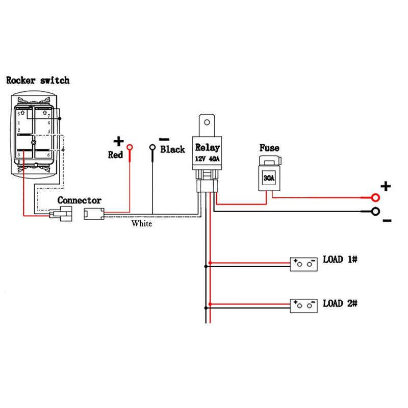 carchet universal car 12v/24v fog light wiring harness kit