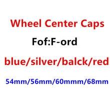 4 pçs 54mm 56mm 60mm 68mm azul/preto/prata/vermelho centro da roda do carro tampas emblema hub cobre emblema estilo do carro acessórios