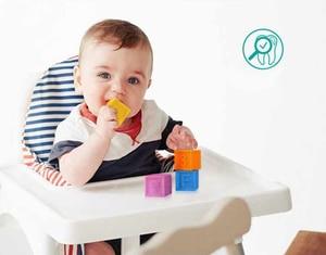Image 5 - シリコーンブロック赤ちゃんのおもちゃ 100% 食品グレードおしゃぶり安全と食べられる認知トレーニング幼児ギフトのための