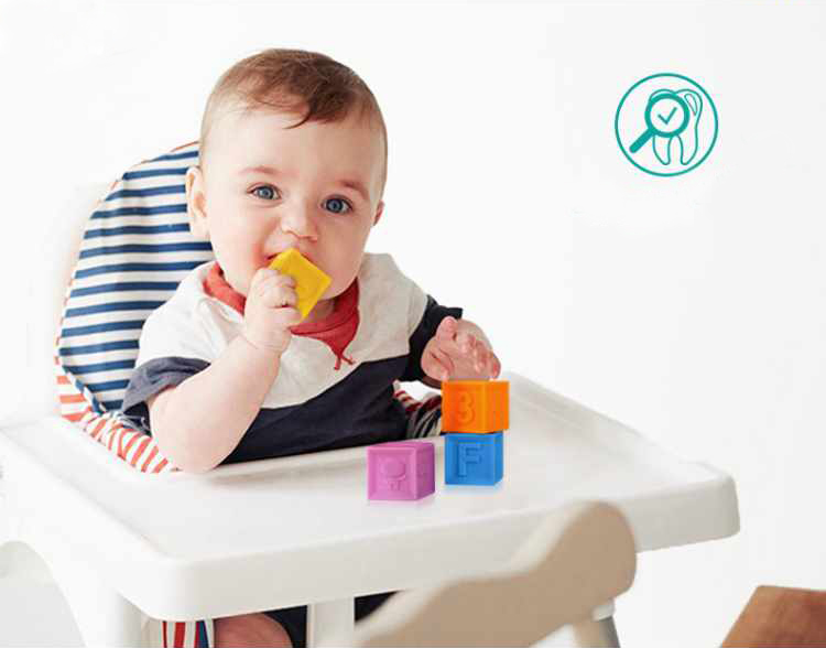 Image 5 - Silicone Blocks Baby Toys 100% Food Grade Teether Safe And Eatable Toys Cognitive Training For Infant Gift    -