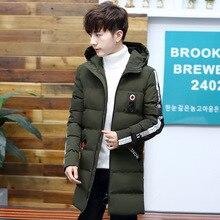 Мужская одежда с хлопковой подкладкой, зимняя повседневная мужская хлопковая одежда большого размера, мужская одежда средней длины с капюшоном, толстое теплое пальто