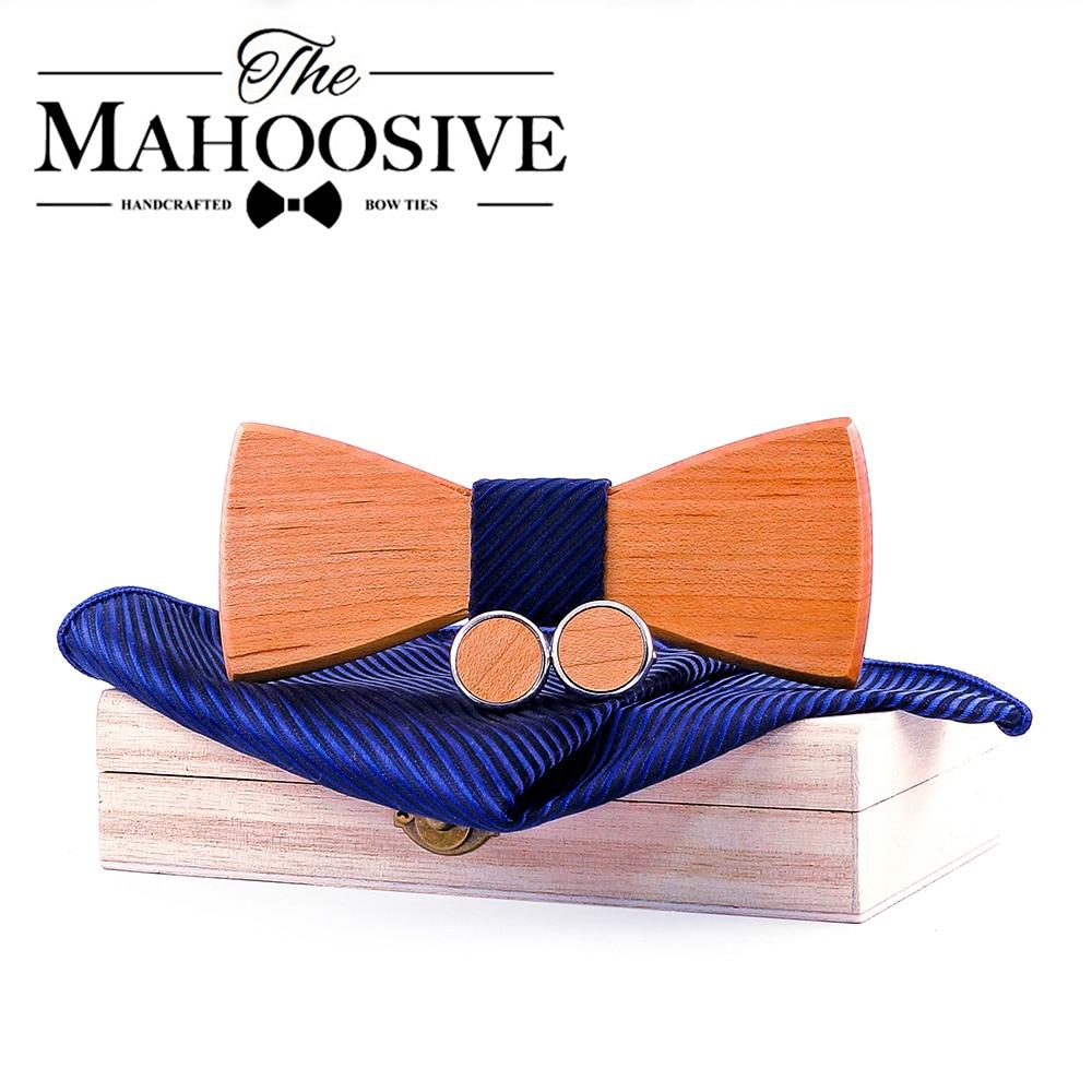 Men Wood Ties Corbatas Para Hombre Classic Business Neck Wooden Bow Tie For Men Suit For Wedding Party Necktie Modis