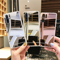 Spiegel Telefon Fall Weichen TPU Rückseitige Abdeckung für Xiaomi Redmi Hinweis 4X 5 Plus 6 7 8 8T 9s Pro 5A 6 6A 7 7A 8 8A K20 K30 S2 Coque Fällen
