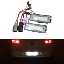 2x luz automática mk5 gti mk6 mk7 golf 5 glof 6 golf 7 xenon branco led número da placa de licença luz kit canbus erro livre carro-estilo