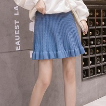 Fashion High Waist Women Skirt Casual Solid Color Ruffled Sexy Mini Skirt Elastic Waist Sweet Women A-Line Skirt jupe femme fresh style solid color elastic waist tiered skirt for women