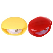 2 Pcs Automatic Roll Earphone Headset Headphone Cable Cord Winder Headphones Storage, 1 Pcs Red & 1 Pcs Yellow(China)
