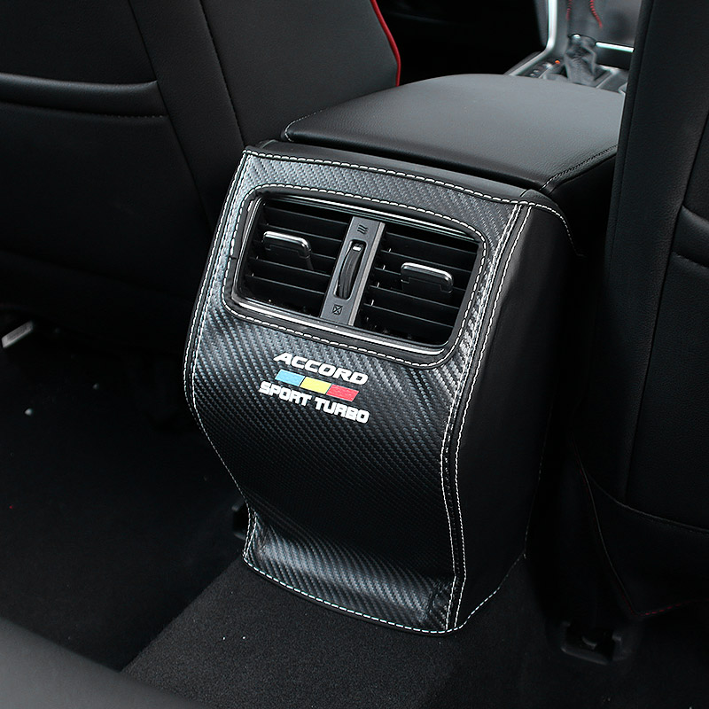 For 10th Honda Accord 2018 2019 Rear Exhaust Air Outlet Anti-kick Pad Central Armrest Box Anti-playing Anti-dirty Pad Protection