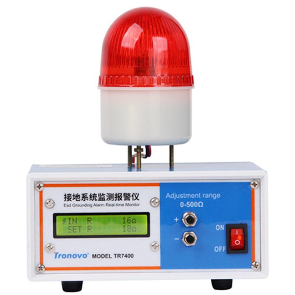Alarme de surveillance du système de mise à la terre Tronovo TR7400, surveillance en ligne de l'alarme de mise à la terre électrostatique - 2