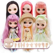 Neo Blyth Doll Customized NBL Shiny Face,1/6 OB24 BJD Ball Jointed Doll Custom Blyth Dolls for Girl, Gift for Collection NBL factory blyth doll bjd neo blyth doll nude customized matte face dolls can changed makeup and dress diy 1 6 ball jointed dolls