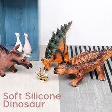 toys 63CM Dinosaur Model Big Size Plastic Puppets Tyrannosaurus Rex Velociraptor Jurassic world Park Dinosaur Toys for Children jurassic big dinosaur toy tyrannosaurus rex soft plastic animal model toy for children gift