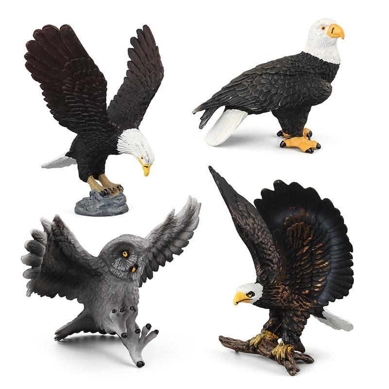 Educational-Toy Raptor Children Gift Models Imal Kids for Eagle Bald Wild-An of Owl