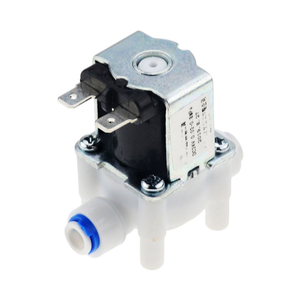 Válvula de solenoide eléctrica normalmente cerrada interruptor de flujo de entrada de agua de cc 12V 1/4