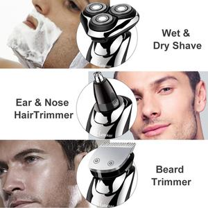 Image 5 - HATTEKER 2019 new arrival electric shaver facial electric razor for men grooming kit usb rechargeable male beard shaving machine