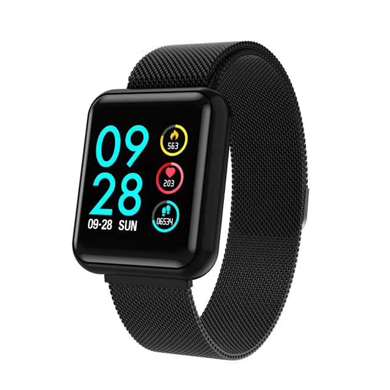 GIAUSA P68 Smart Watch With Blood Pressure SPO2 Heart Rate Monitor IP68 Waterproof Activity Tracker Smartwatch PK Xiomi Fitbits