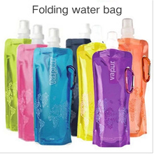 Portable Fashion 480ml Ultralight Foldable Flexible Water Bag Soft Flask Bottle Outdoor Sport Hiking Camping Water Bag цена и фото