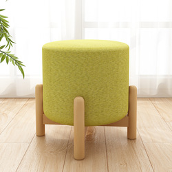 Podnóżek styl kreatywny okrągły stołek podnóżek tkaniny Sofa stołek ławki mały stołek buta stara się stołek z litego drewna niski taboret|Półki i organizatory na buty|Dom i ogród -