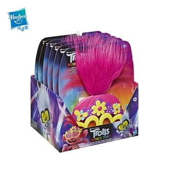 Hasbro Trolls World Tour TROLLS 2 Cosplay Galsses Wig POPPY Hair Cartoon Movie Shiny Children's Toy Party Cosplay Accessories trolls фигурка тролль poppy