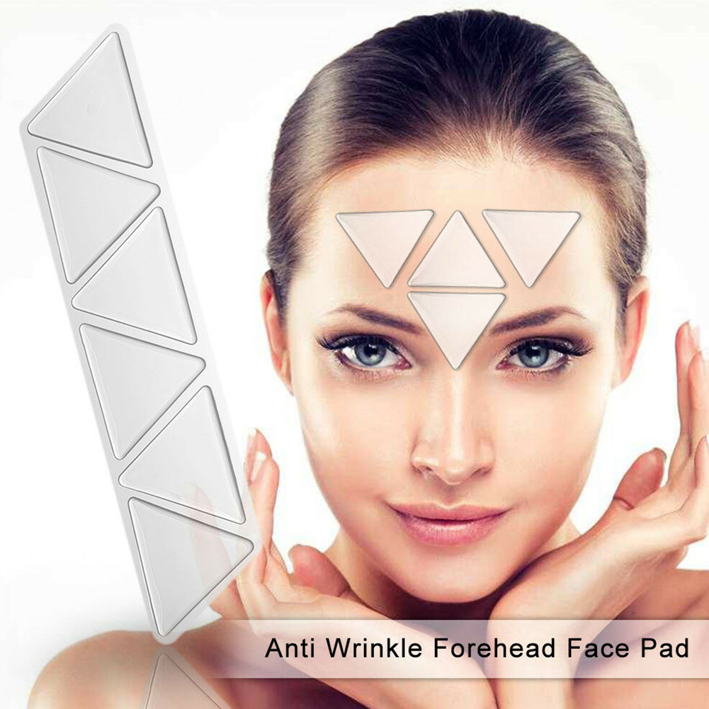 6pcs Face Pad Patches Lifting Mask Invisible Anti Wrinkle Silicone Anti-aging Forehead Folds Home Eye Reusable Triangle