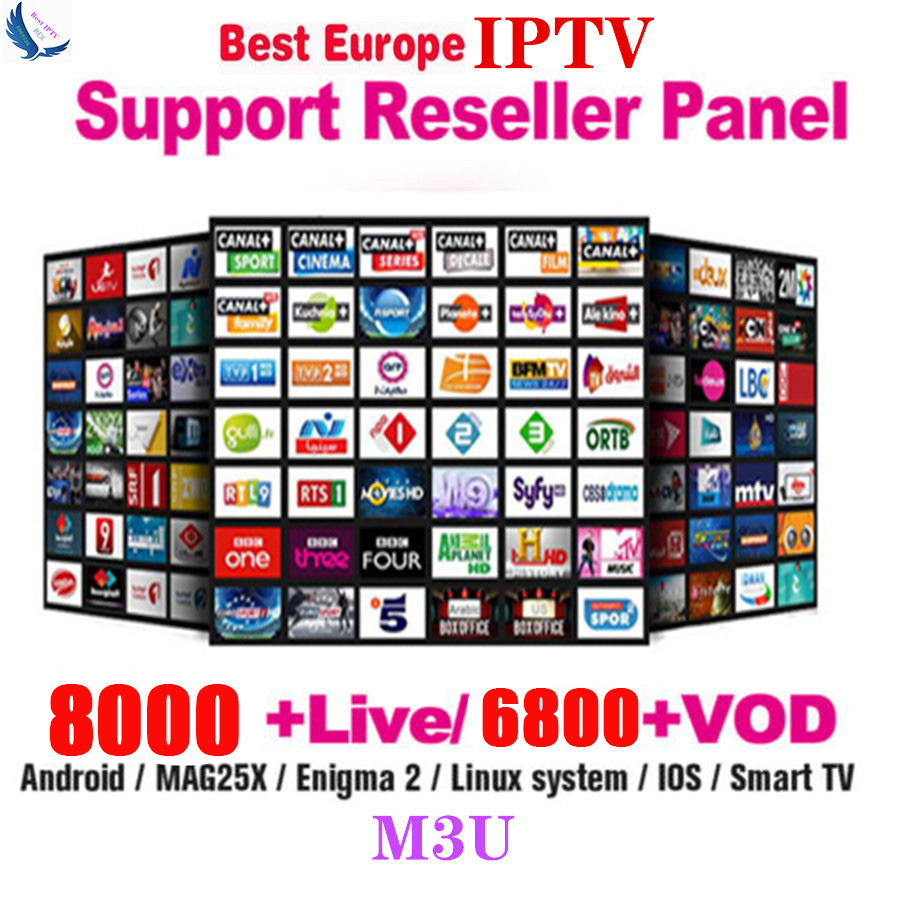 8000 Channels World Global IPTV Europe USA UK Germany Italy Nordic Latin 3/6/12 Month subscription For M3U Mag Android Smart TV image