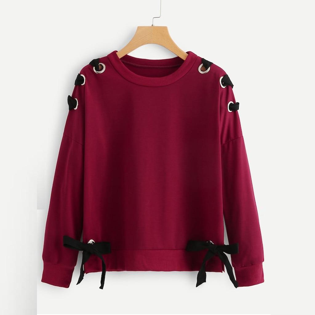 Women Lolita Pullovers Butterfly Bow Long Sleeve Sweet Sweatshirts Tops Autumn Teen Girls Drop Shoulder Casual Pullovers Cute