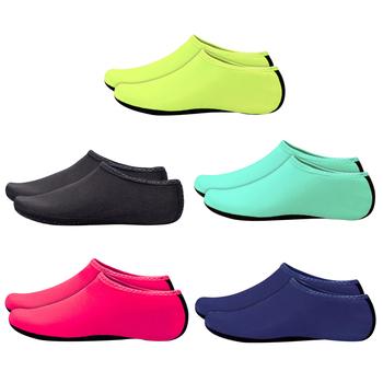 Unisex buty do wody pływanie nurkowanie skarpety lato Aqua antypoślizgowe tenisówki plaża boso sporty wodne skóra buty Aqua tanie i dobre opinie JOCESTYLE CN (pochodzenie) Dobrze pasuje do rozmiaru wybierz swój normalny rozmiar Wsuwane oddychająca
