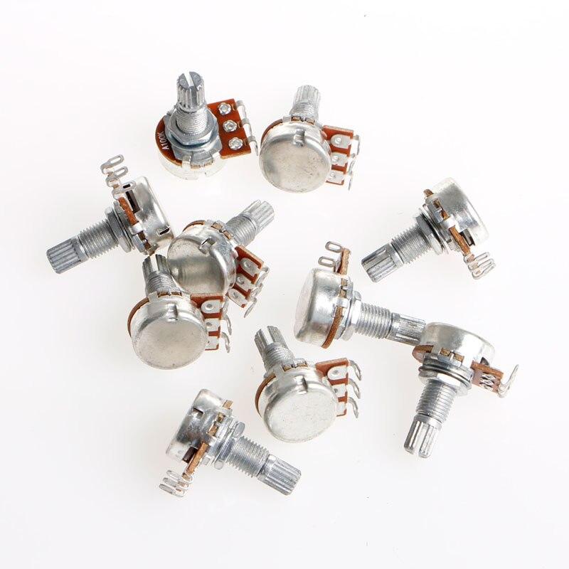 1Pc Durable A100K OHM Audio Tone Guitar Potentiometer 16mm High Quality Dropship